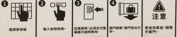 高雄「左営」駅コインロッカー操作手順