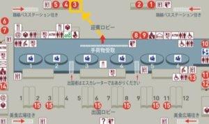 桃園空港第1ターミナルの悠遊カード窓口の場所(販売・チャージ・払い戻し)