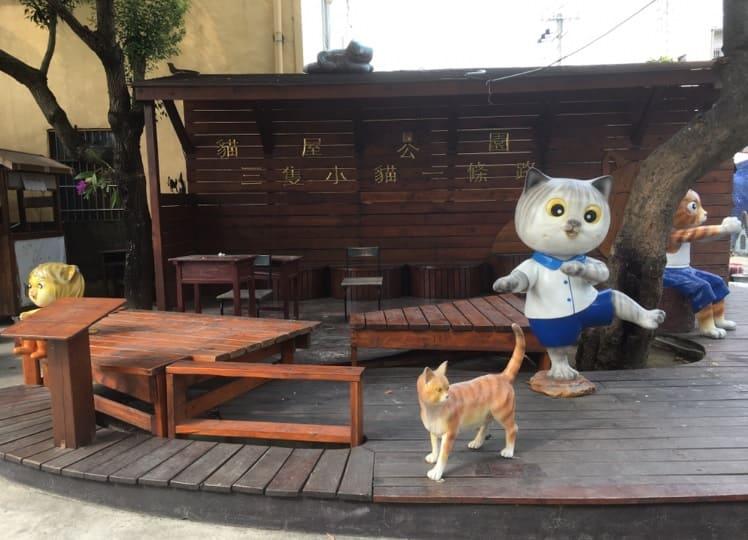 台湾のアートな村のインスタ映えする壁アート_猫村_3